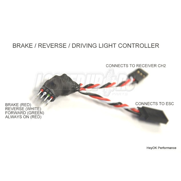 HeyOK Brake, Reverse & Driving Light Controller